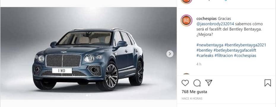 ¡Filtrado! Así es el lavado de cara del Bentley Bentayga 2021: ¿Ha mejorado con los años?