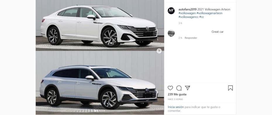 ¡Filtrado! Así son los Volkswagen Arteon, Arteon R y Arteon Shooting Brake 2020: Debutan el 24 de junio