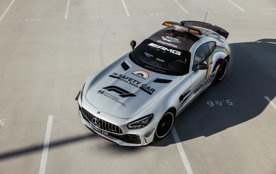 Mercedes-AMG modifica la decoración del Safety Car de la F1 por primera vez en 25 años