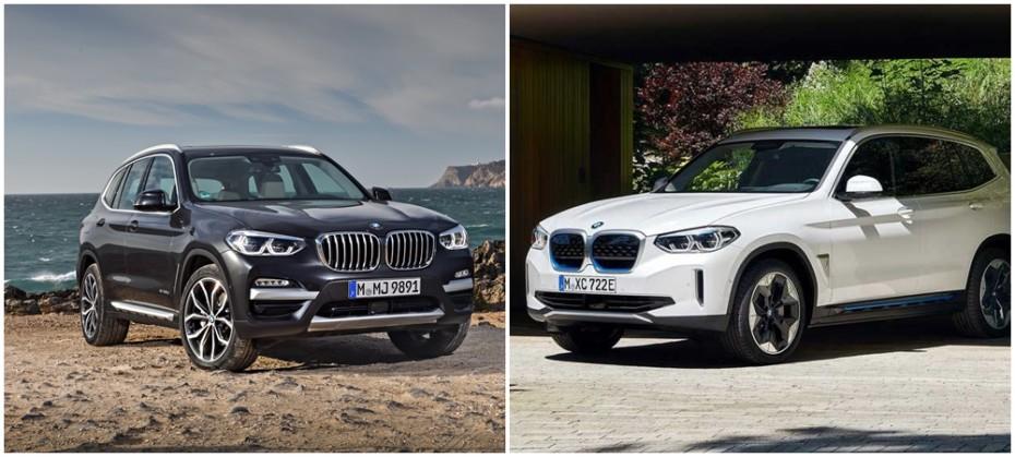 Comparación visual: ¿Cuánto tiene en común el BMW iX3 eléctrico con el BMW X3?