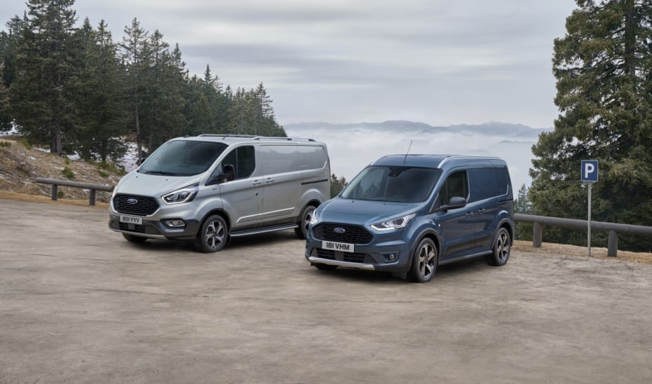 Ford presenta las versiones Active de Tourneo y Transit Connect