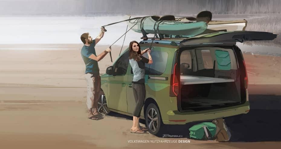 El nuevo Volkswagen Caddy Beach debutará en Septiembre: primeros detalles de la «mini» camper