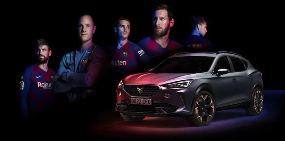 El CUPRA Formentor de 310 CV se convierte en el coche oficial del FC Barcelona