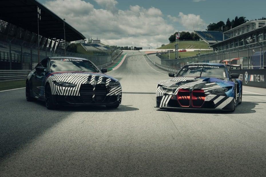 El nuevo BMW M4 de hasta 510 CV se deja ver junto al futuro BMW M4 GT3 antes de su debut