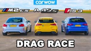 [Vídeo] BMW M2 CS vs. Mercedes-AMG A 45 S vs. Audi RS 3: ¿Cuál es el rey de los compactos picantes?