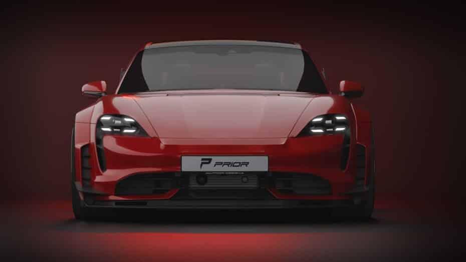 Así de espectacular es el Porsche Taycan que propone Prior Design