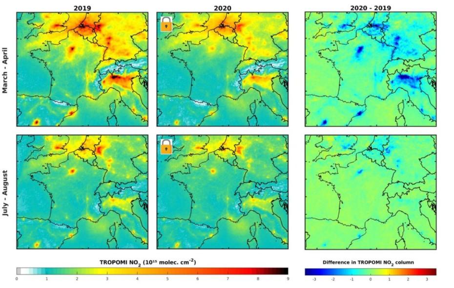 Estos son los índices de contaminación pos-COVID-19