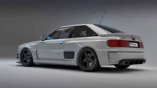Este Audi RS2 Coupé Widebody de Prior Design es impresionante: basado en un Audi 80 B3