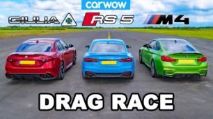 [Vídeo] Alfa Romeo Giulia Quadrifoglio vs. BMW M4 Coupé vs. Audi RS 5 Coupé: ¿Por cuál apuestas?