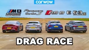 [Vídeo] BMW M8 Competition GC vs. Audi RS 6 vs. Porsche Panamera Turbo S E-Hybrid vs. Mercedes-AMG E 63 S