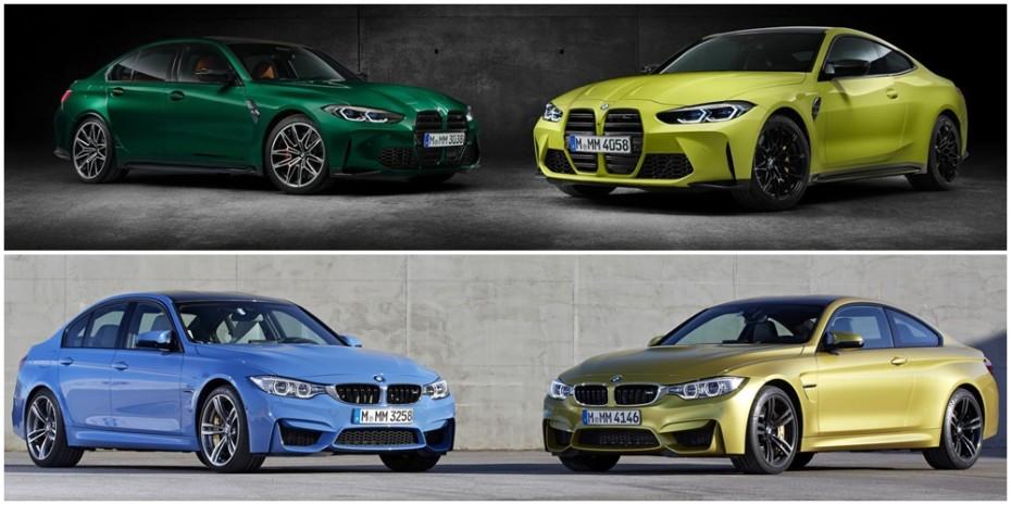 Comparación visual BMW M3 y M4 Coupé 2021: Juzga tú mismo qué tal les han sentado los cambios…