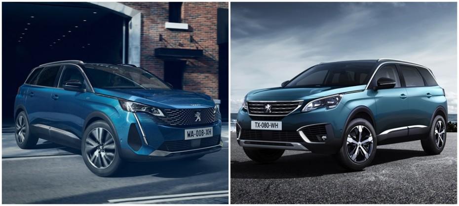 Comparación visual Peugeot 5008 2021: Juzga tú mismo cuánto ha cambiado el SUV de 7 plazas
