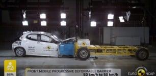 El nuevo Toyota Yaris se enfrenta a las pruebas de choque: excelentes resultados