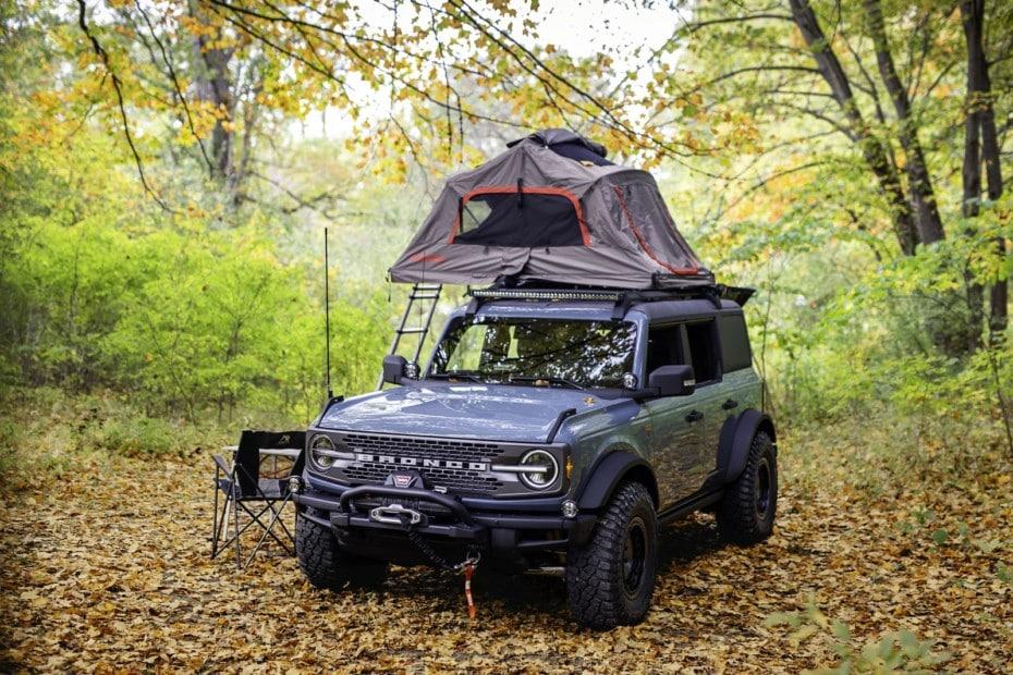 Bronco Overland Concept: acampar donde quieras ya es posible con los accesorios oficiales