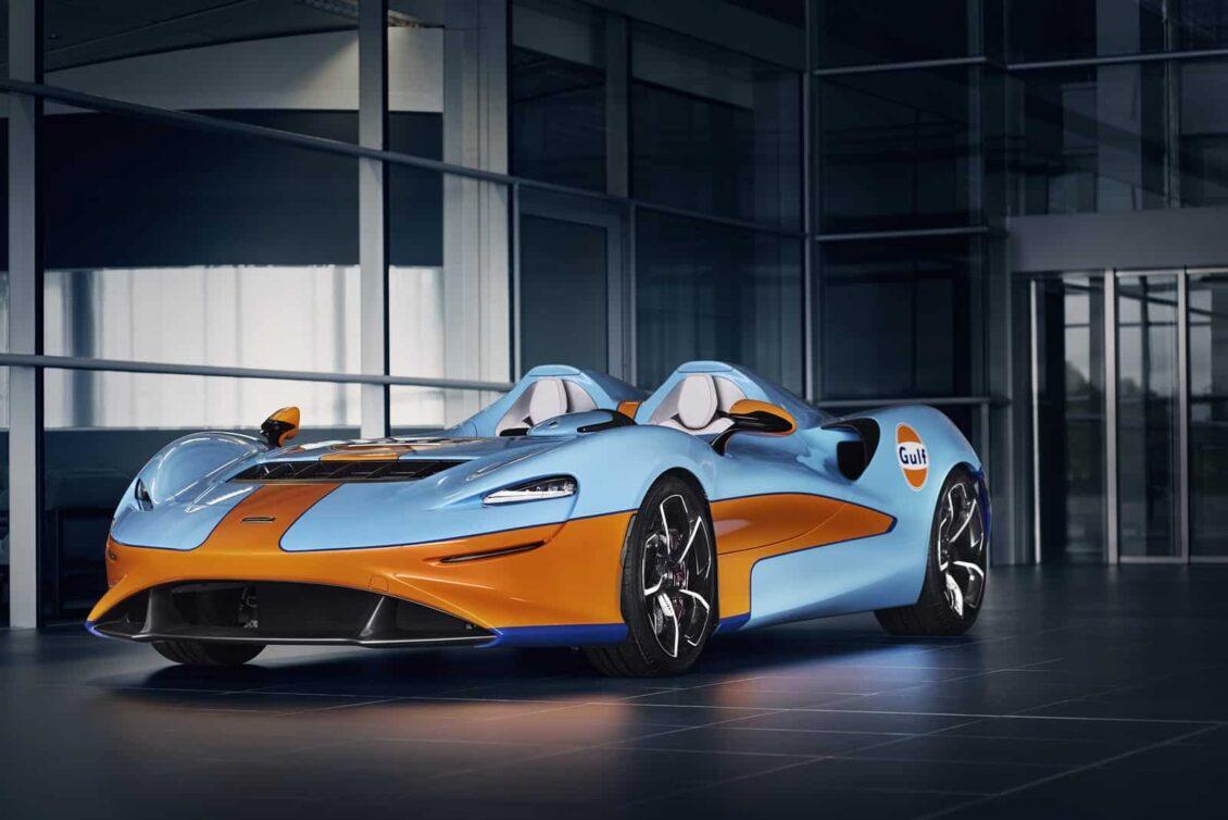 Este McLaren Elva con la librea de Gulf nos encanta, aunque quedaría mejor en otro modelo…