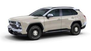 Se llama Mitsuoka Buddy pero en realidad es un Toyota RAV4 con aspecto retro