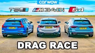 [Vídeo] BMW M340i Touring vs. Audi S4 Avant vs. Volvo V60 Polestar: Batalla para 'papis' rápidos