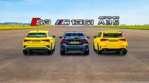 [Vídeo] Mercedes-AMG A 35 vs. BMW M135i vs. Audi S3 2021: ¿Habrá cambios en el podio?