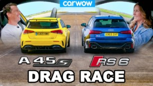 [Vídeo] Mercedes-AMG A 45 S 4MATIC+ vs. Audi RS6 Avant: ¿Es el resultado que esperabas?