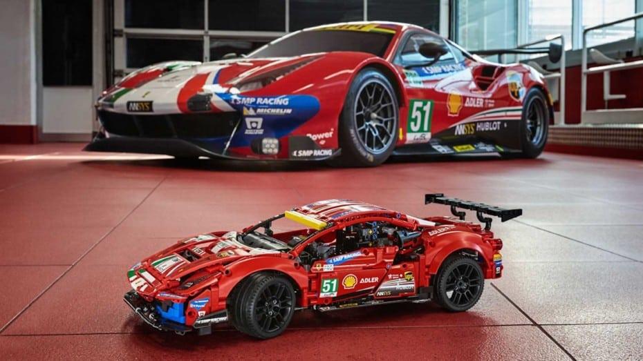 De la pista a tu salón: el Ferrari 488 GTE «AF Corse #51» llega a LEGO Technic