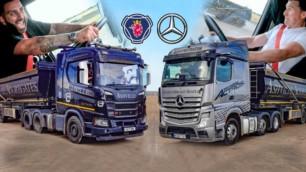 [Vídeo] Mercedes-Benz Actros vs. Scania R500: Una 'drag race' poco habitual, pero divertida