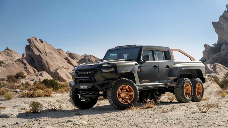 Rezvani Hercules 6 × 6: Una bestia V8 de hasta 1.318 CV desde 191.000 euros al cambio
