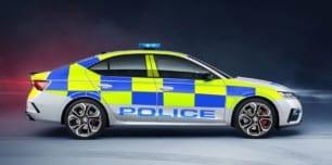 El nuevo Skoda Octavia RS 2.0 TSI de 245 CV disponible como coche de policía