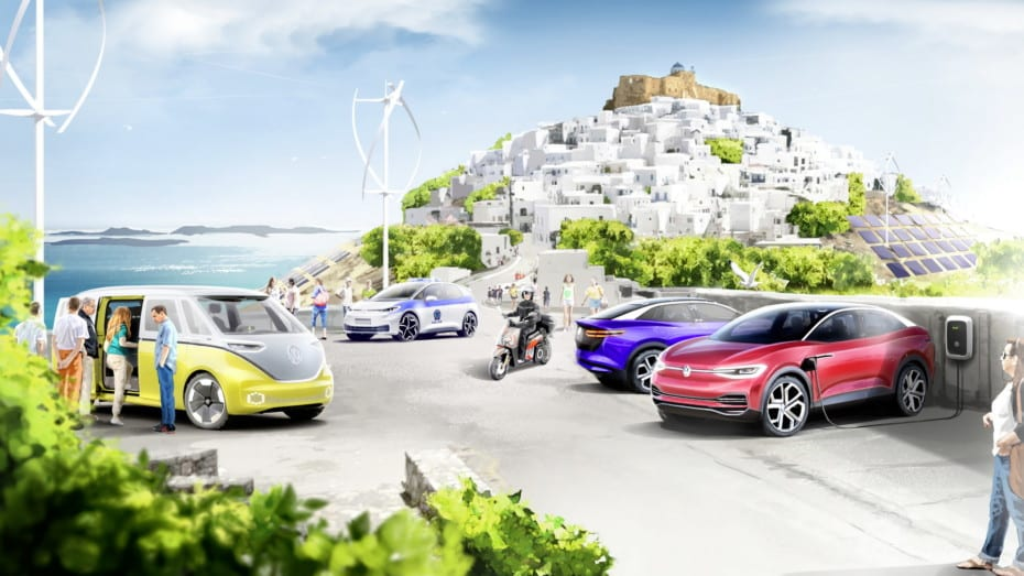 Adiós a la combustión interna en esta isla griega: Volkswagen la electrificará por completo