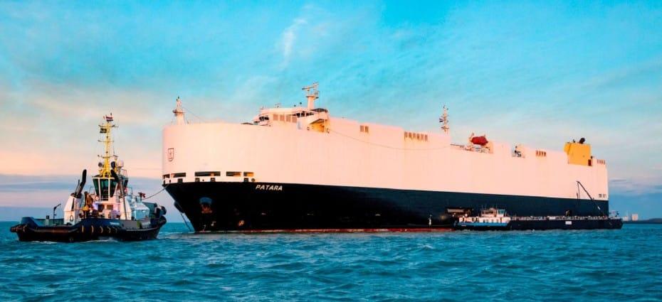 Este barco de transporte de coches «huele a fritanga»: Menos CO2 y azufre