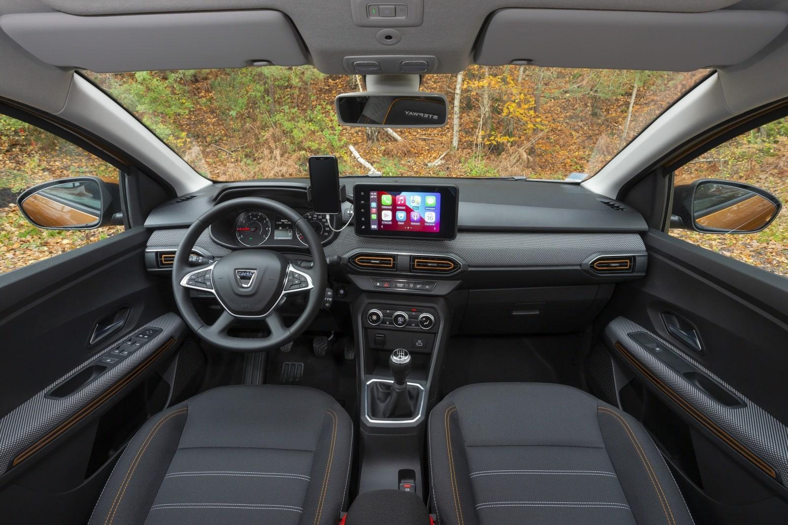 Interior del Dacia Sandero 2021