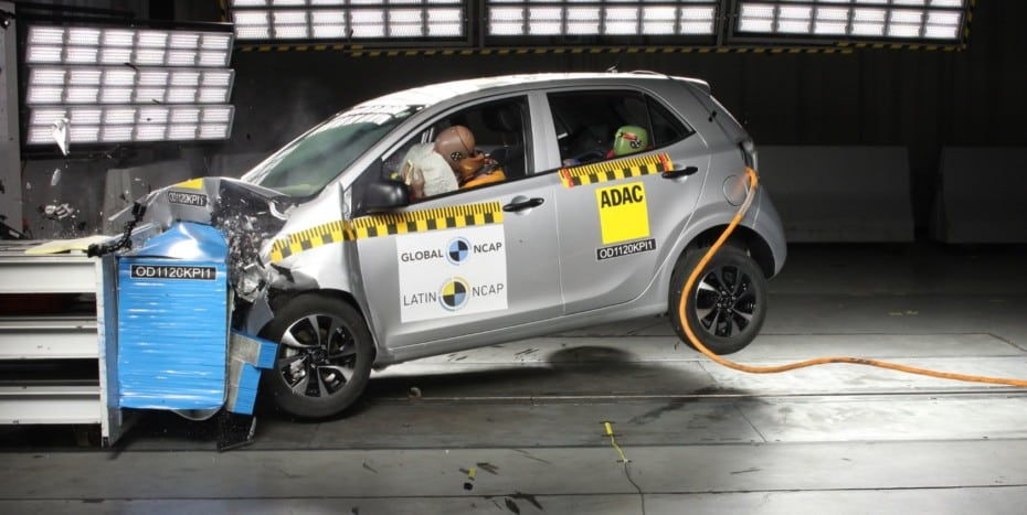 El KIA Picanto sorprende en las pruebas de choque de Latin NCAP: 0 estrellas