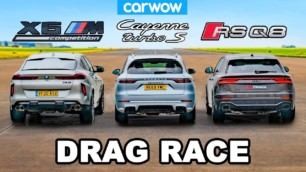 [Vídeo] Audi RS Q8 vs. BMW X6 M vs. Porsche Cayenne Turbo S E-Hybrid: si apuestas, ¿aciertas?