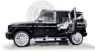 Hofele nos presenta un Mercedes-Benz Clase G con puertas suicidas y un interior de alto lujo