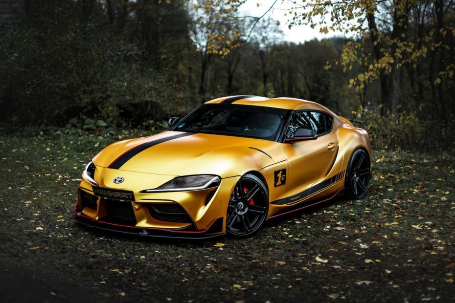 Manhart ha convertido el Toyota Supra en una bala dorada de más de 500 CV