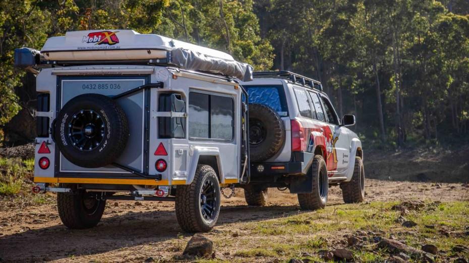 Esta caravana es un auténtico 'Transformer' con capacidad para hasta seis adultos