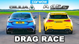 [Vídeo] Alfa Romeo Giulia QV vs. Mercedes-AMG A 45 S: ¿Podrá el compacto picante con la bestia italiana?