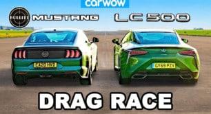 [Vídeo] Lexus LC 500 vs. Ford Mustang Bullitt: ¿Podrá la ingeniería nipona con la furia americana?