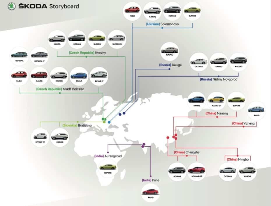 ¿Sabes dónde fabrica Skoda sus modelos? Aquí tienes todas sus fábricas