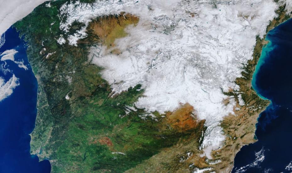 Así luce la Península Ibérica tras la histórica nevada