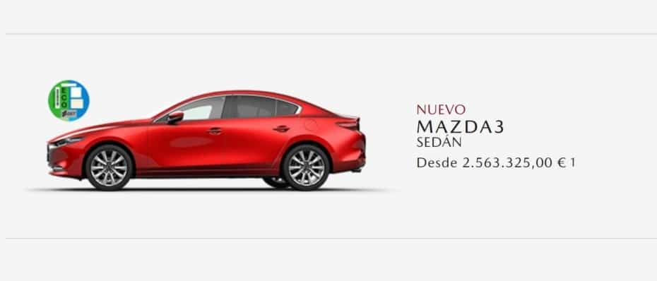 Sabíamos que en 2021 iban a subir los precios pero ver un Mazda3 por 2.5 millones de euros…