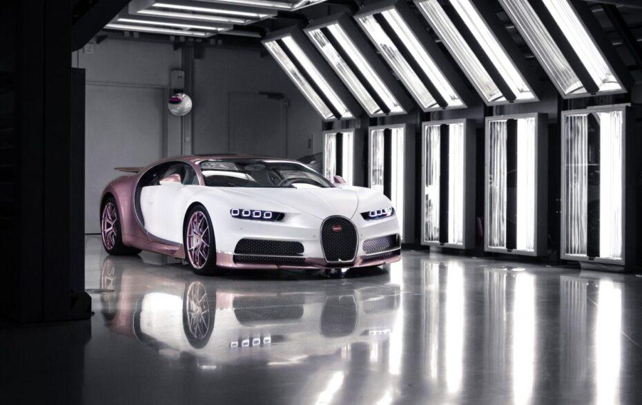 Y de regalo de San Valentín, un Bugatti Chiron personalizado para su esposa