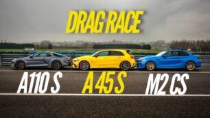 [Vídeo] BMW M2 CS vs. Mercedes-AMG A 45 S vs. Alpine A110 S: ¿Aciertas el orden de llegada a meta?