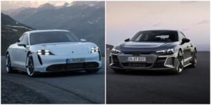 Comparación visual Audi e-tron GT vs. Porsche Taycan: ¿Por cuál de los dos