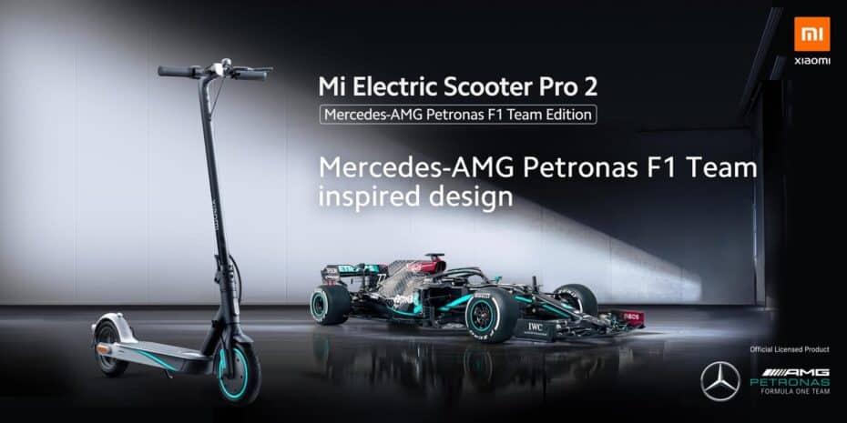 Ya a la venta el Xiaomi Mi Electric Scooter Pro 2 Mercedes-AMG Petronas F1 Team Edition