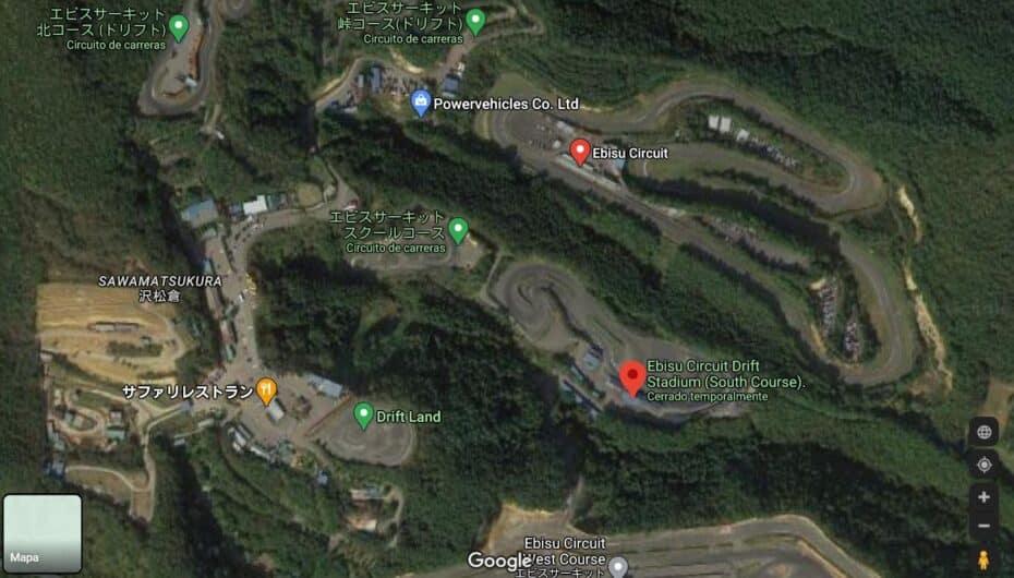 El circuito japonés de Ebisu gravemente dañado por el terremoto