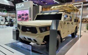 KIA presenta su nuevo vehículo táctico militar: modular, muy capaz y salvaje