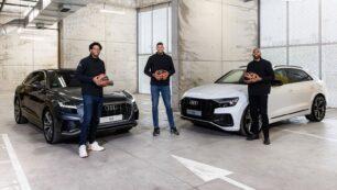 El Real Madrid de baloncesto recibe sus Audi: Cuando el Q8 parece un utilitario...
