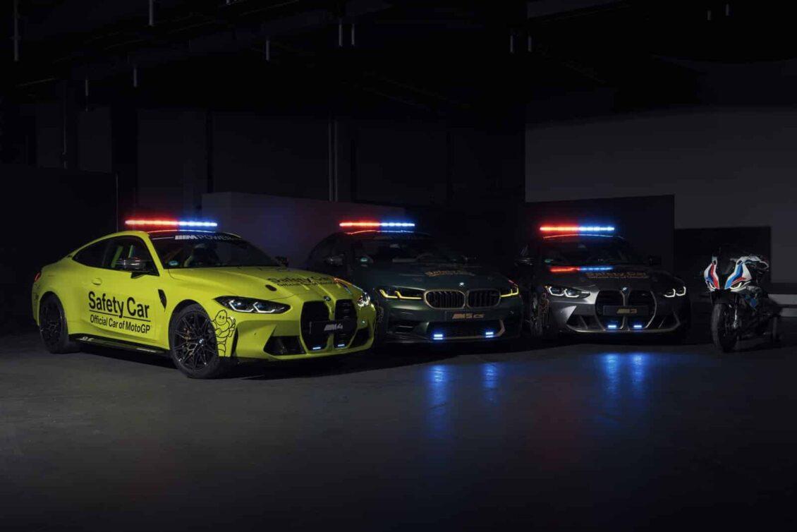BMW M nos muestra su brutal flota de coches de seguridad para MotoGP 2021