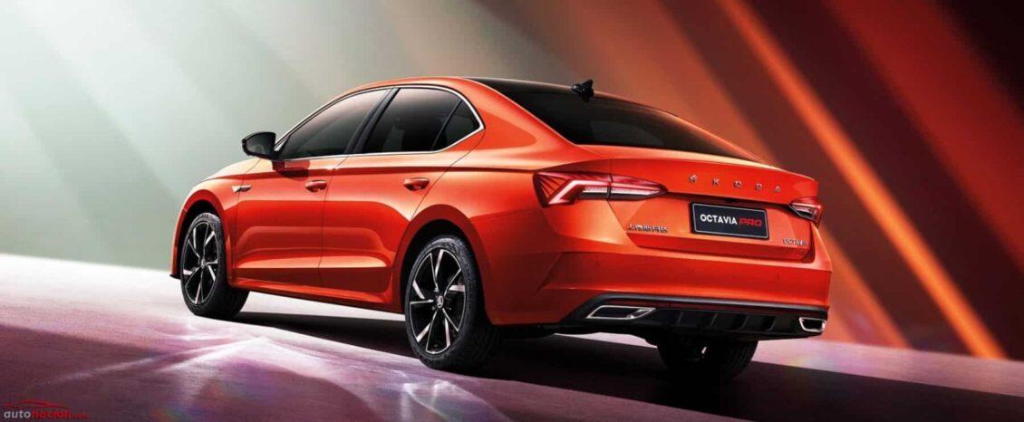Škoda OCTAVIA PRO: una versión para China con el look RS y casi tan grande como un Superb