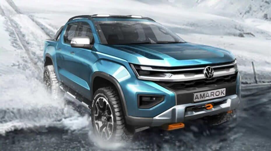 Volkswagen Amarok parece, Ford Ranger es: segundo anticipo de la nueva generación
